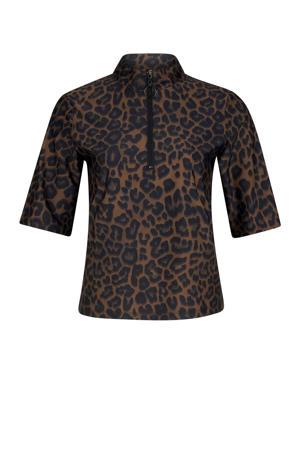 sport T-shirt Yane bruin/zwart