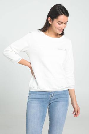 sweater met kant ecru