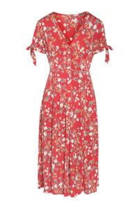 Cassis jurk met all over print rood, Rood