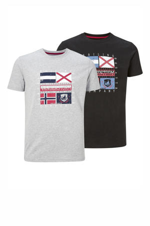 T-shirt PREBEN - (set van 2)