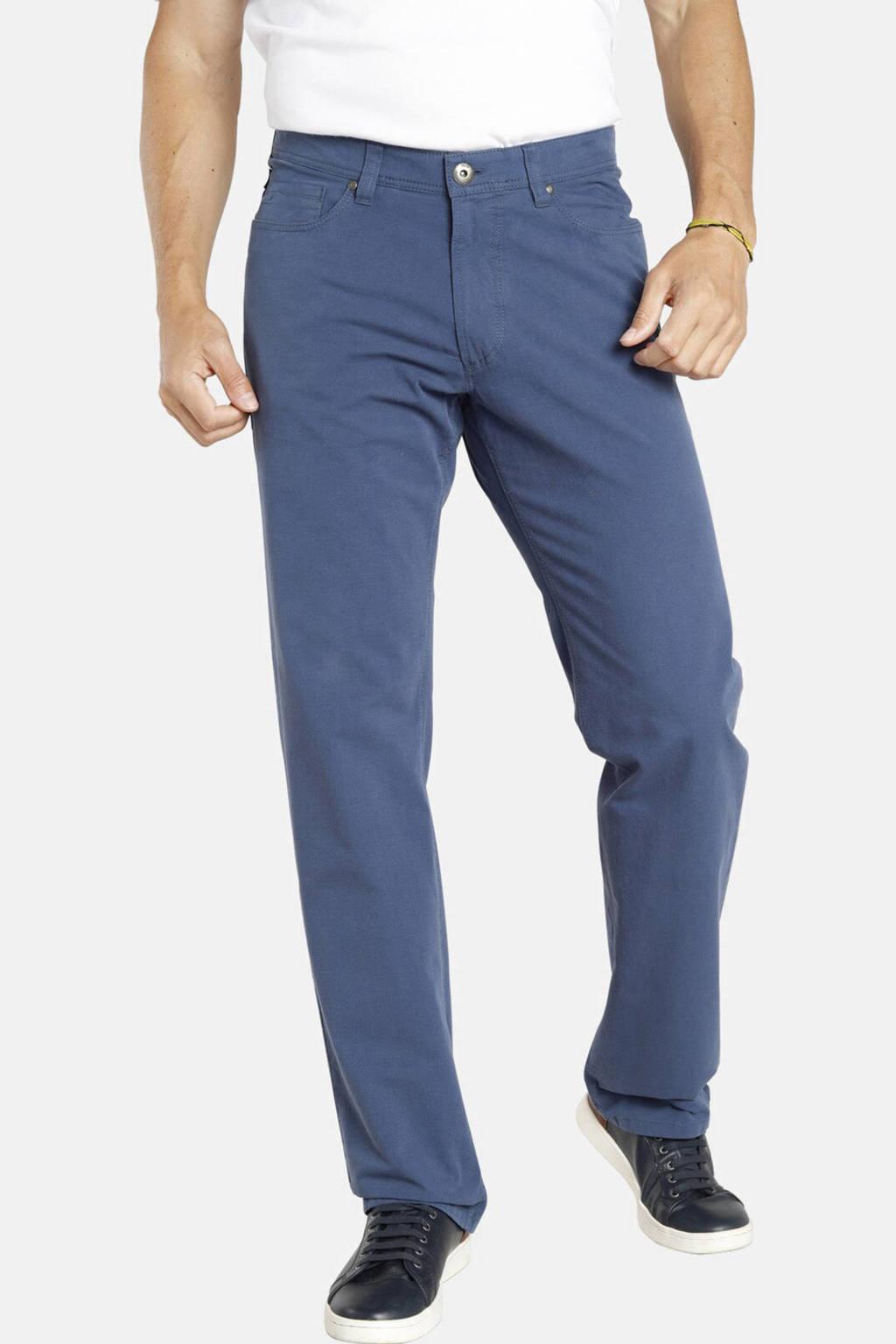 Jan Vanderstorm loose fit broek TJORE Plus Size blauw, Blauw