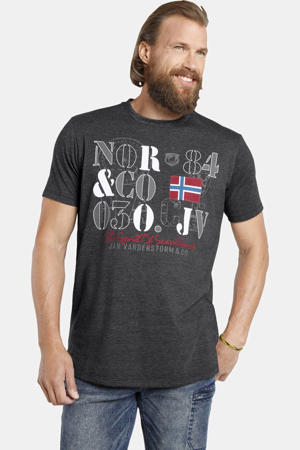 T-shirt RAGAN Plus Size met printopdruk grijs