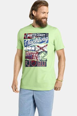 T-shirt TAGE Plus Size met printopdruk groen