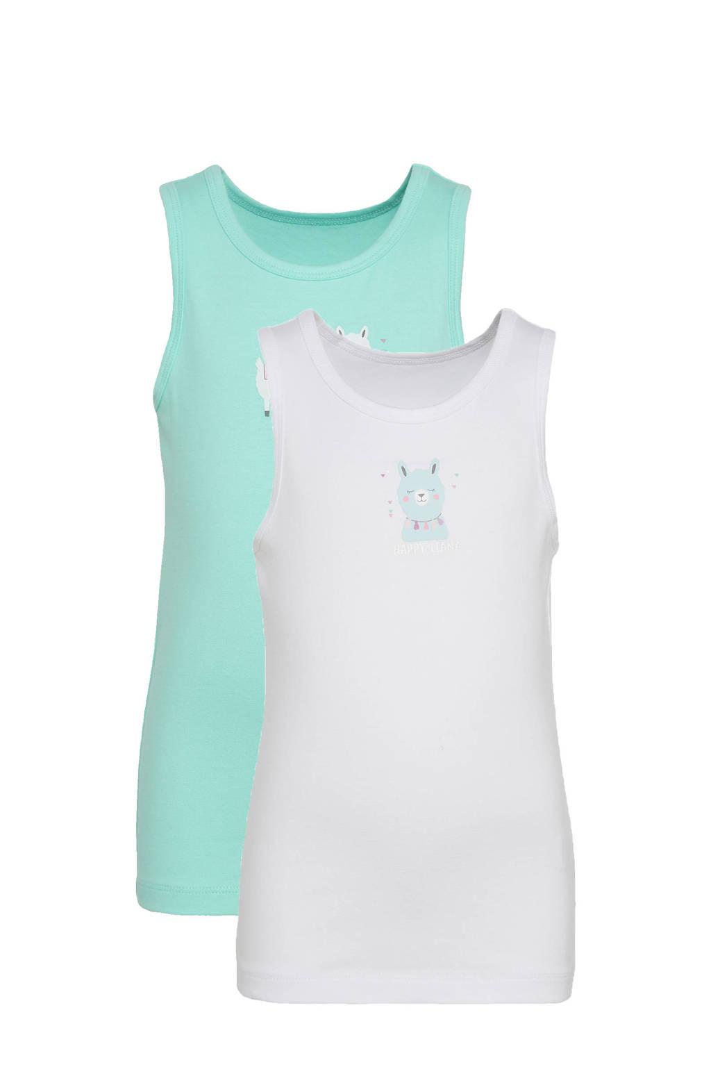 C&A Palomino hemd - set van 2 groen/wit, Mintgroen/wit