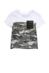 C&A Tough Team T-shirt met biologisch katoen wit/groen, Wit/groen