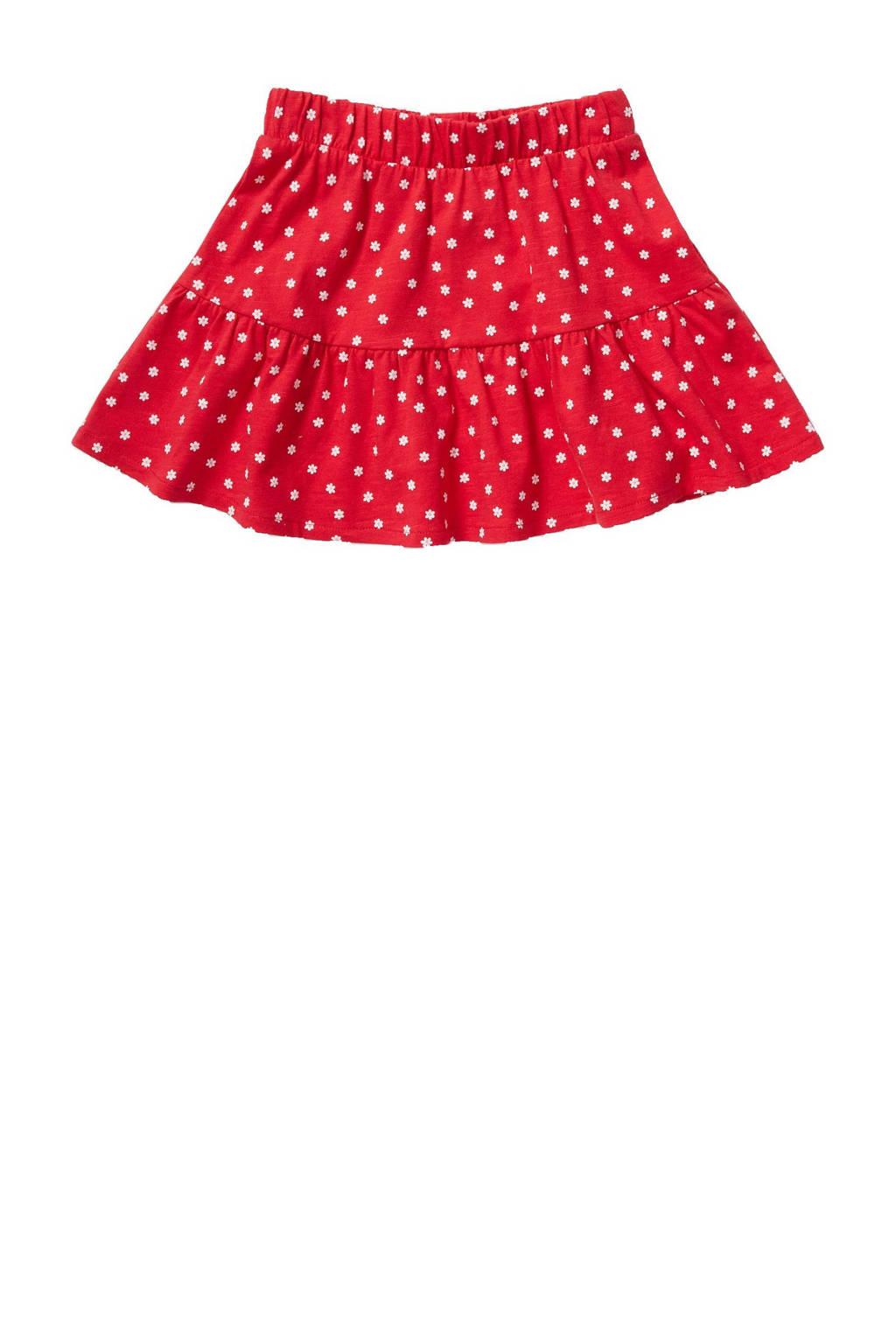 C&A Palomino gebloemde rok van biologisch katoen rood, Rood