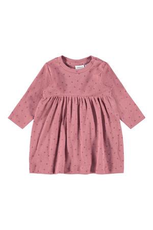 baby jurk NBFLUMA met biologisch katoen oudroze/paars