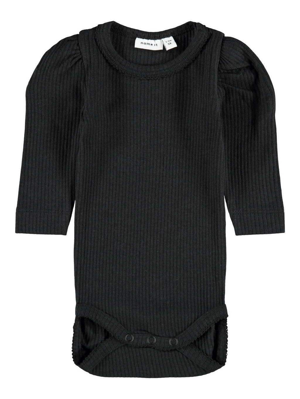 NAME IT BABY romper zwart, Zwart