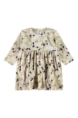 baby jurk Larisa met biologisch katoen beige/groen/paars