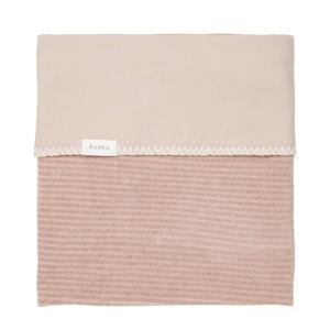 baby wiegdeken Vik corduroy/flanel 75x100 cm Grey Pink