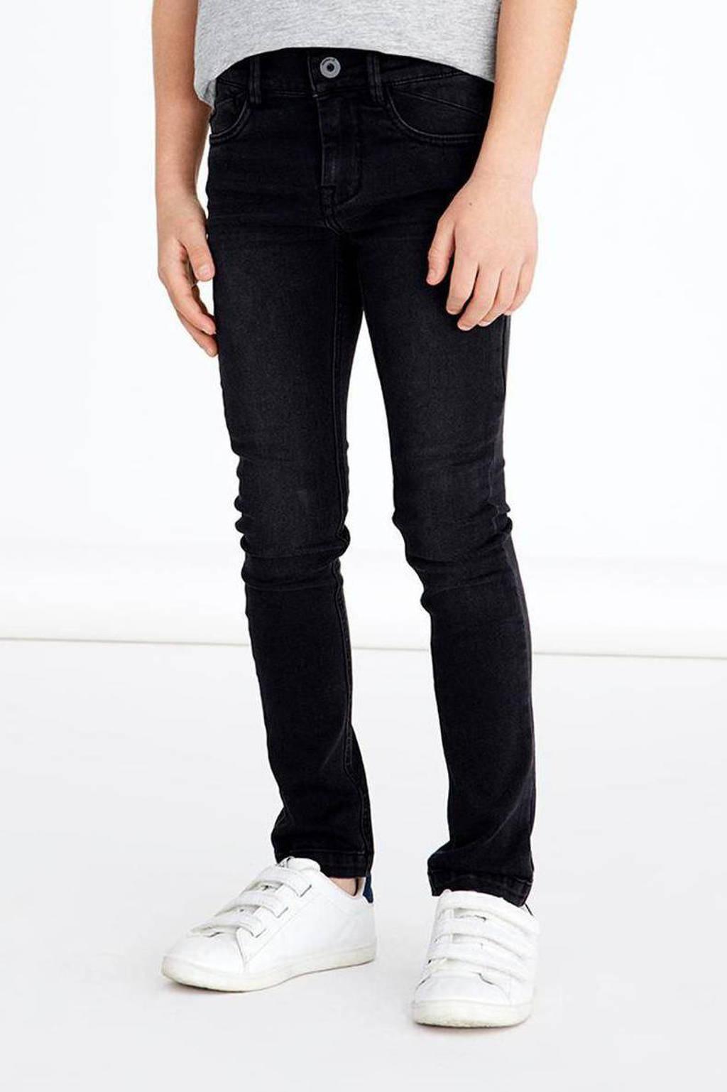 NAME IT KIDS skinny jeans NKMPETE zwart, Zwart