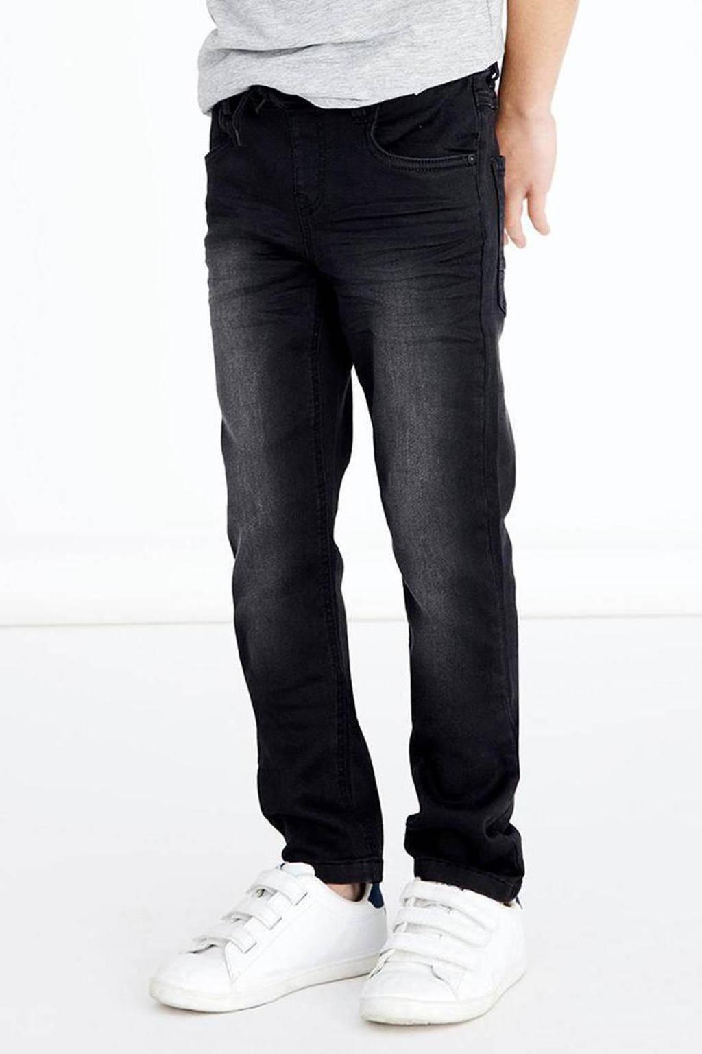 NAME IT KIDS slim fit jeans NKMROBIN zwart, Zwart