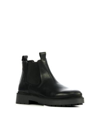 5601060  leren chelsea boots zwart