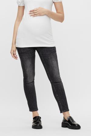 low waist slim fit jeans Califorien grijs stonewashed