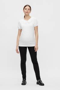 MAMALICIOUS slim fit zwangerschapstregging MLALBA van gerecycled polyester zwart, Zwart