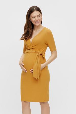 zwangerschaps- en voedingsjurk MLKOLETTE okergeel