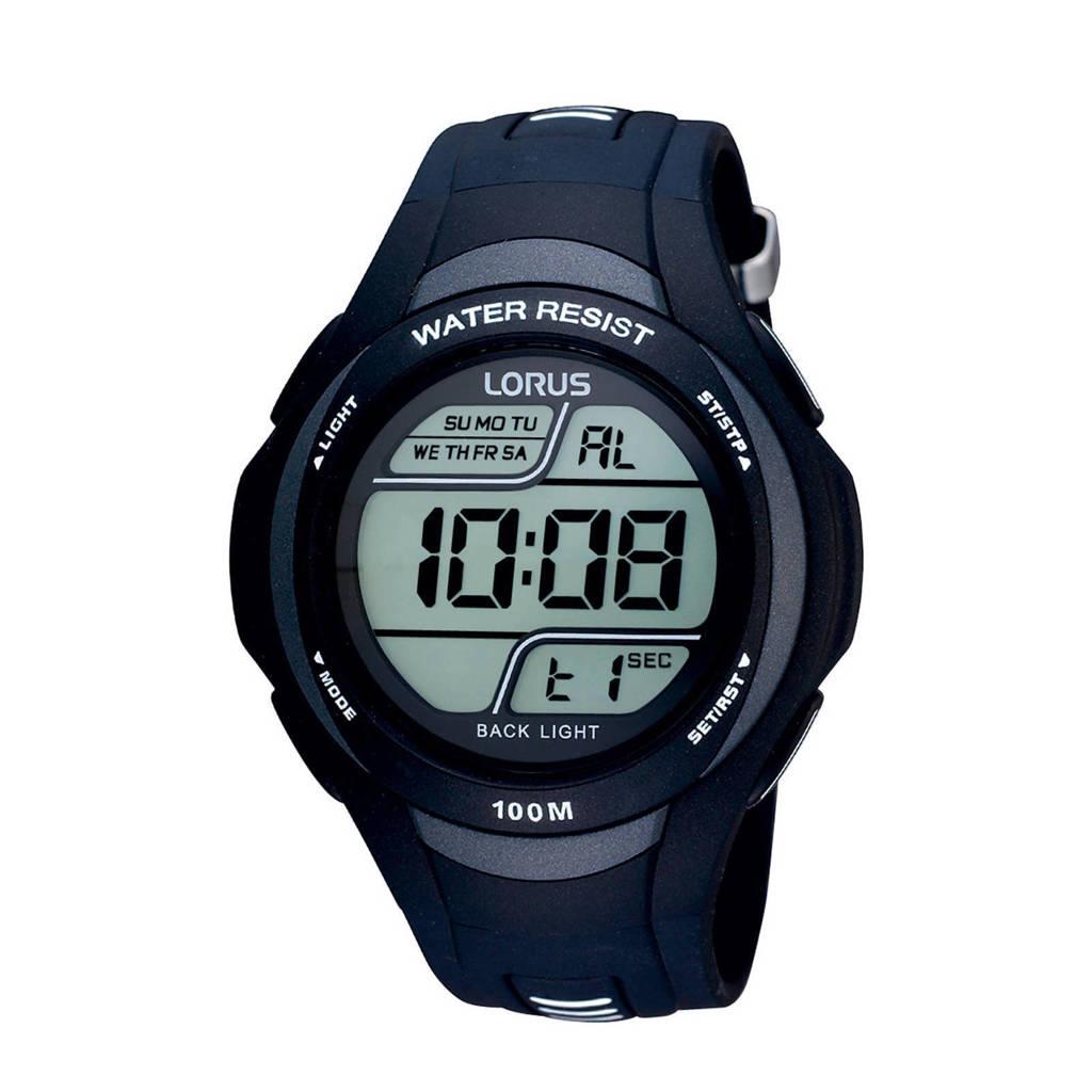Lorus digitaal horloge R2305EX9, Zwart