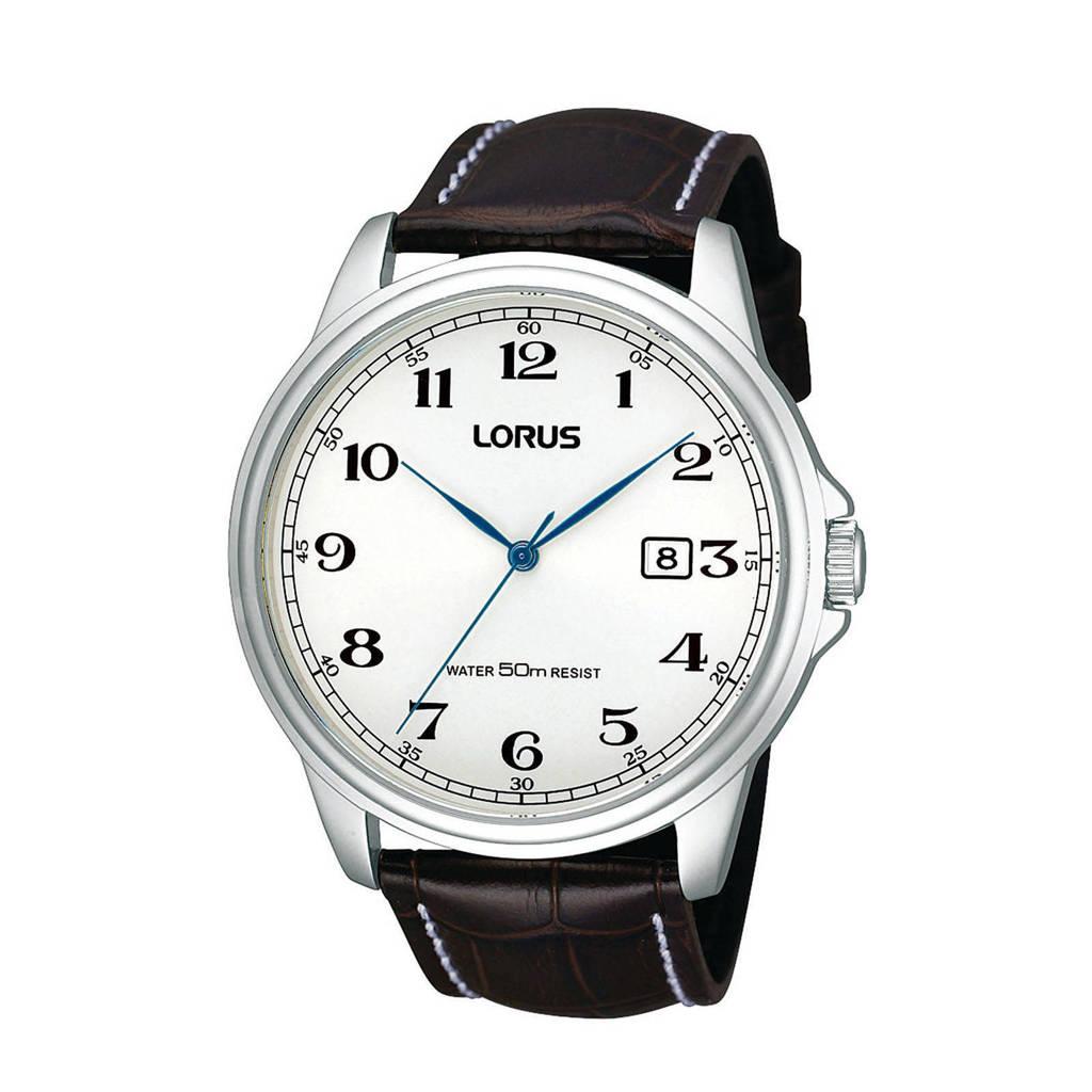 Lorus horloge RS985AX9, Bruin/zilverkleurig