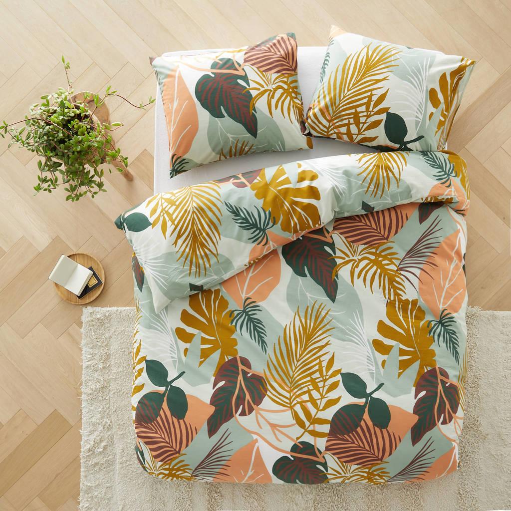 Wehkamp Home katoenen dekbedovertrek Colorblock Jungle lits-jumeaux, Lits-jumeaux (240 cm breed)