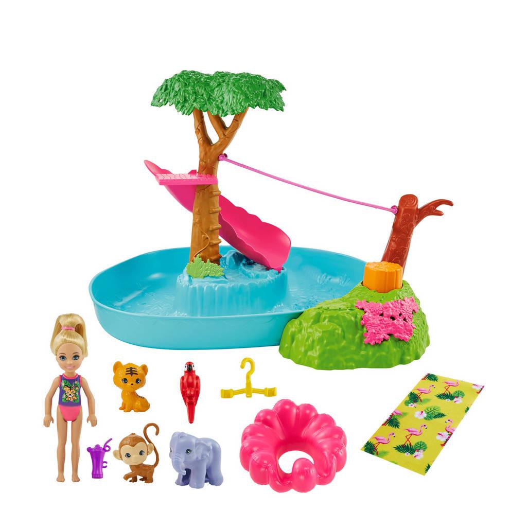 Barbie Family  Barbie en Chelsea de verdwaalde verjaardag Chelsea Jungle Rivier speelset