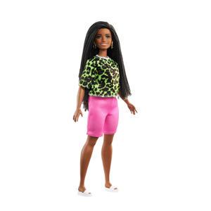 Barbie Fashionistas Doll Fel Luipaard shirtje en roze bike shorts