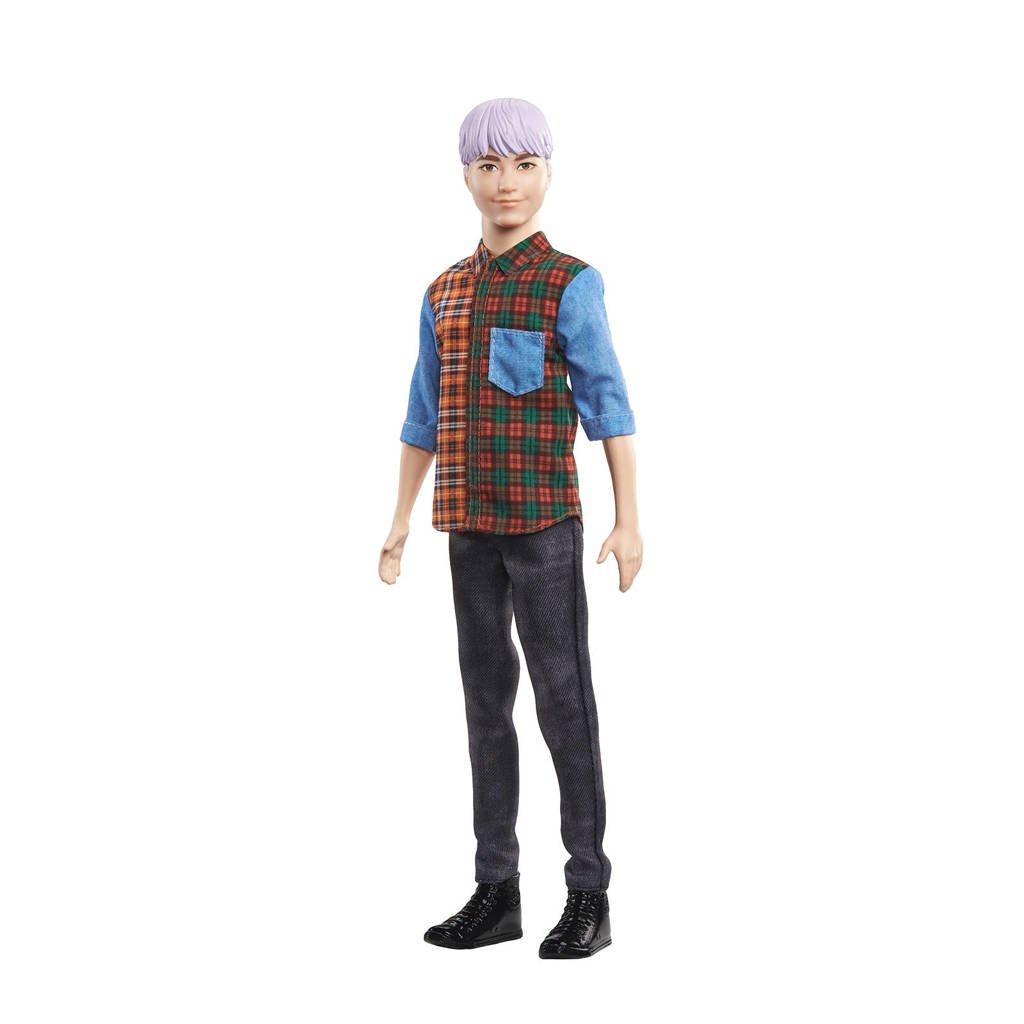 Barbie Fashion en Beauty Ken Fashionistas Doll paars haar