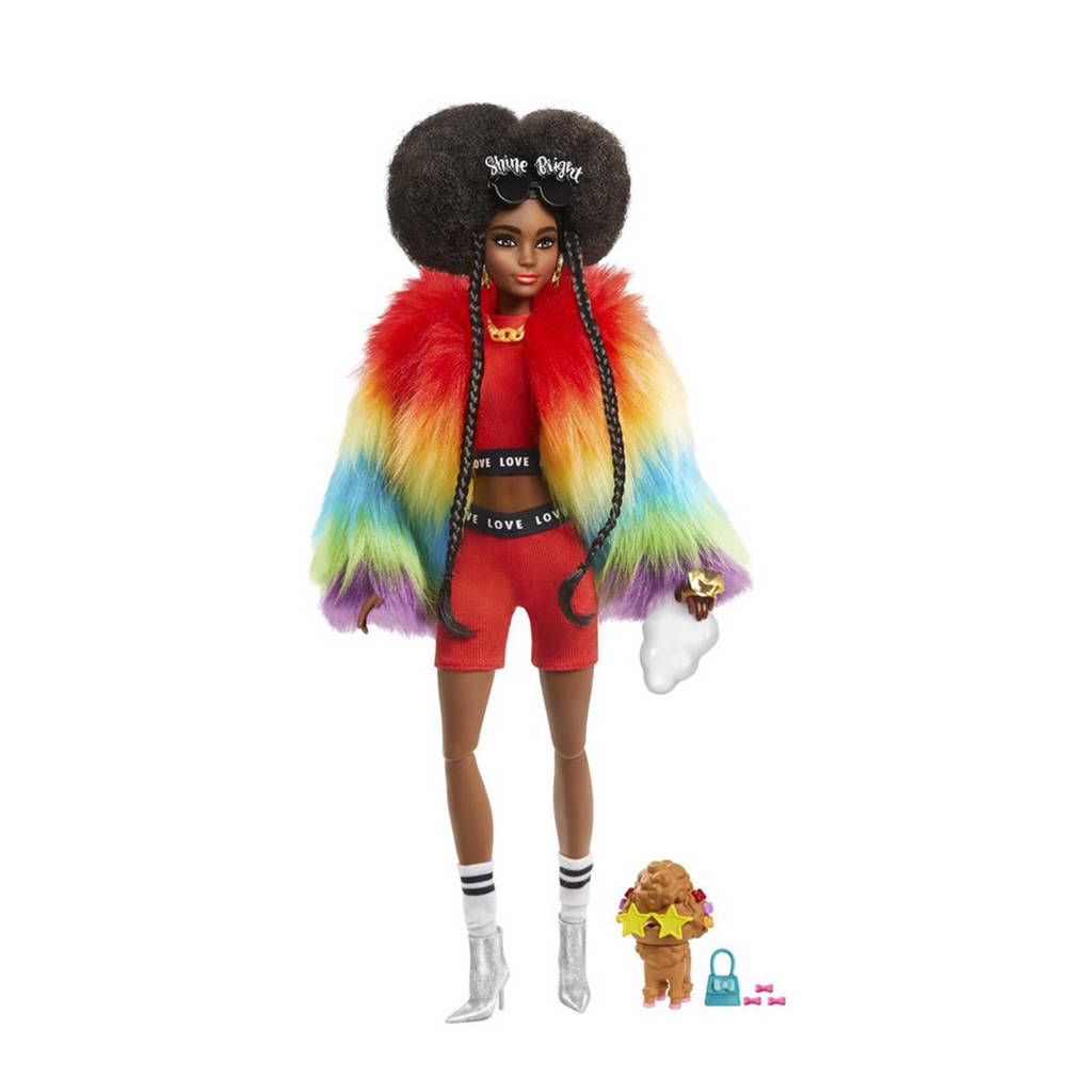Barbie Barbie Extra Doll Rainbow Coat