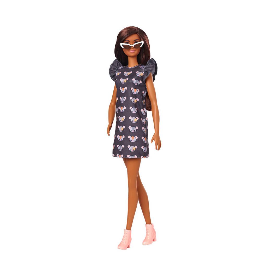 Barbie Fashion en Beauty Barbie Fashionistas Doll Muis print jurkje