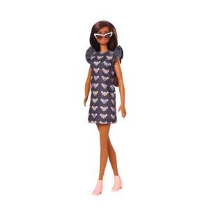 Barbie Fashionistas Doll Muis print jurkje