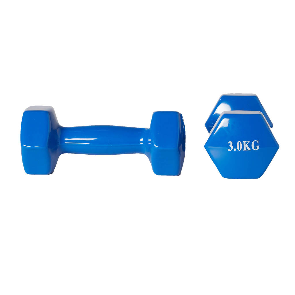 Active Panther dumbbell set 2x 3kg blauw