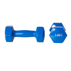 dumbbell set 2x 3kg blauw