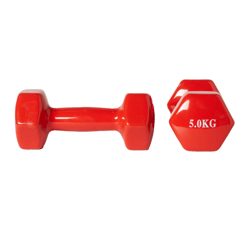 Active Panther dumbbell set 2x 5kg rood