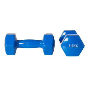 dumbbell set 2x 6kg blauw