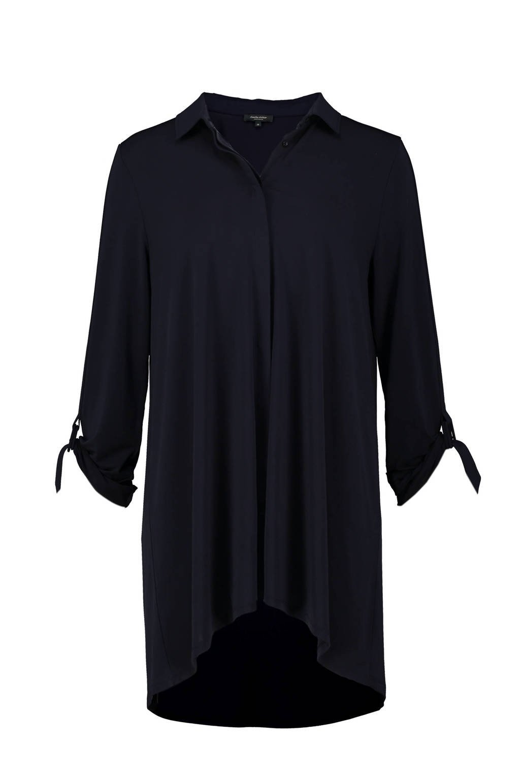 Claudia Sträter blouse donkerblauw, Donkerblauw