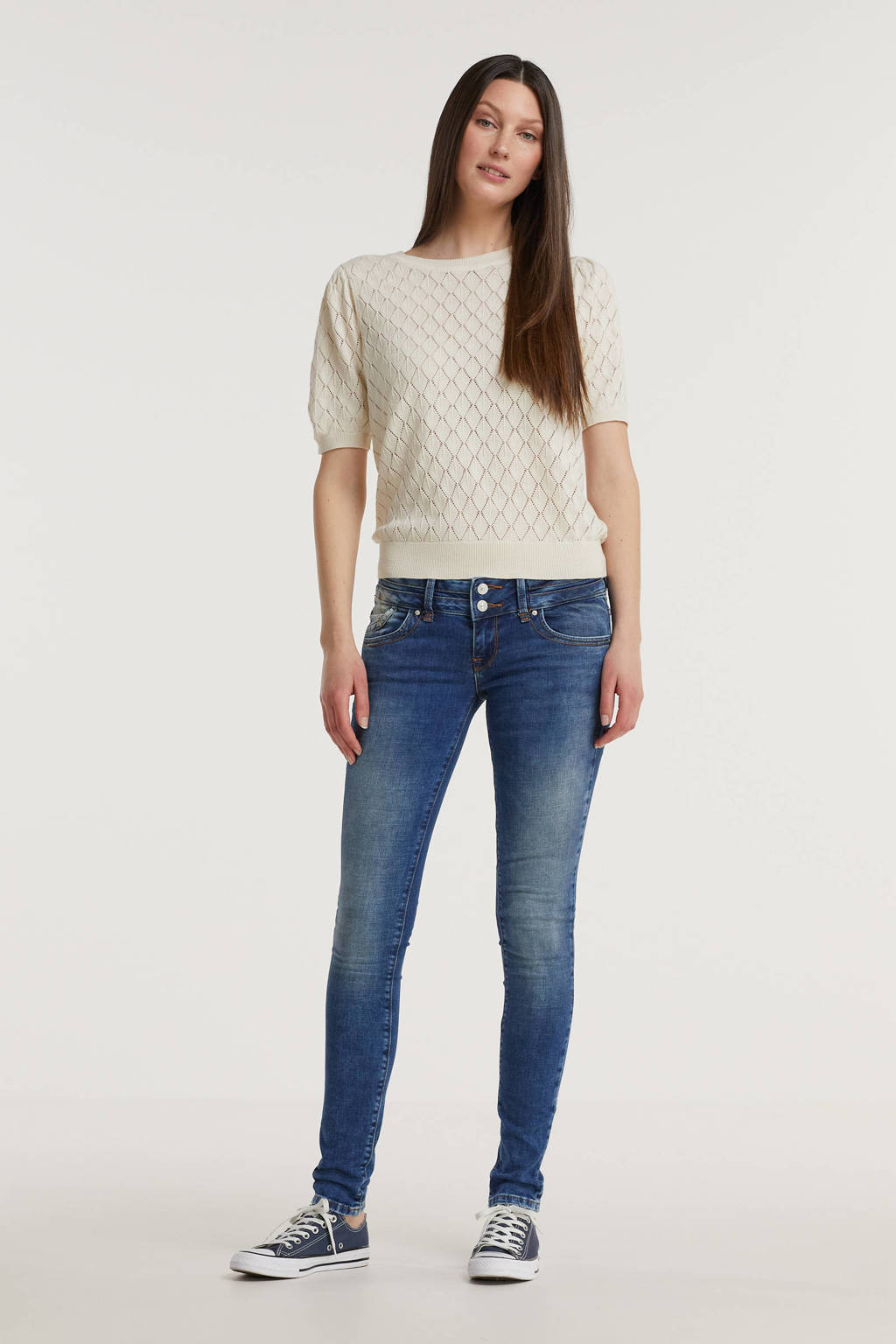 LTB low waist skinny jeans JULITA medium blue denim, Medium blue denim