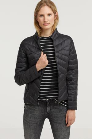 gewatteerde jas Florentina zwart