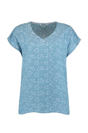 top Davina met all over print blauw