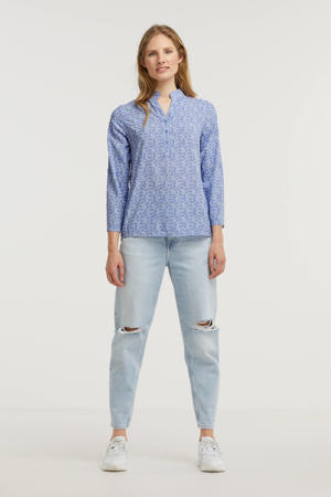 top Josi met all over print blauw