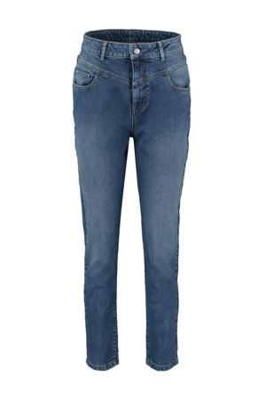 high waist slim fit jeans Adele medium blue denim