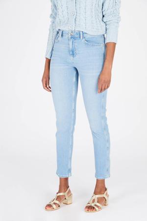 high waist skinny jeans blue bleached