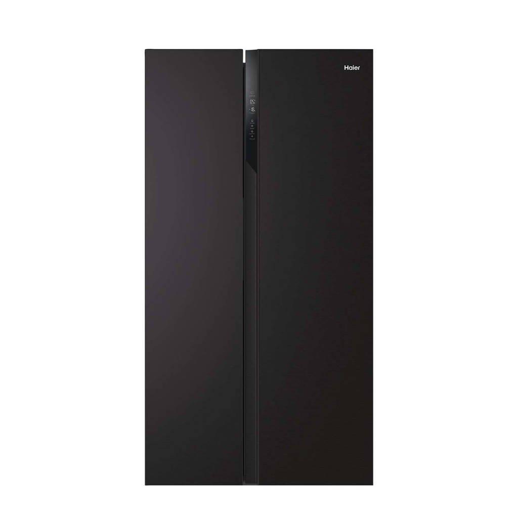 Haier HSR3918ENPB amerikaanse koelkast, Zwart