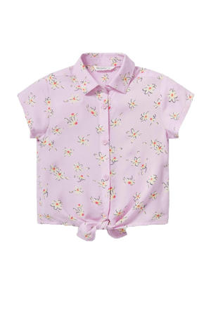 gebloemde blouse lila