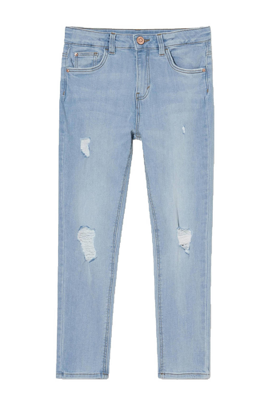 C&A Here & There slim fit jeans lichtblauw, Lichtblauw