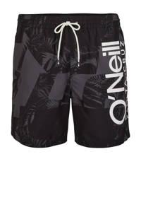 O'Neill Blue zwemshort Cali met logo zwart/grijs, Zwart/grijs