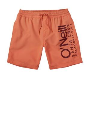 zwemshort Cali met logo oranje