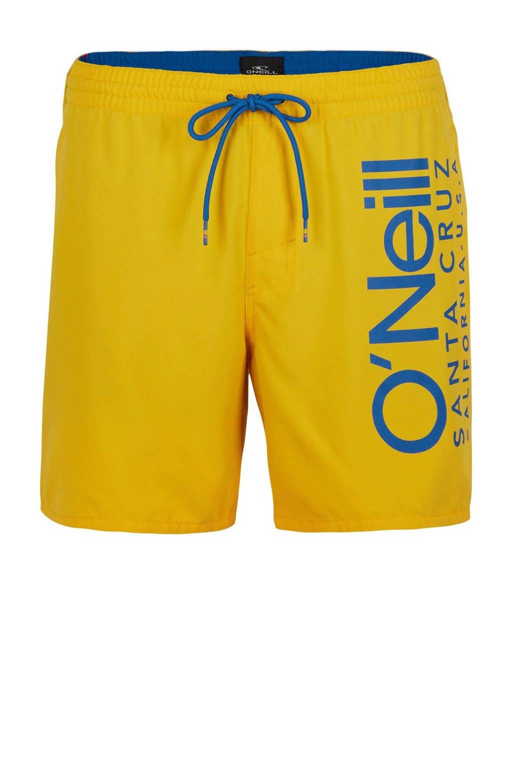 O'Neill Blue zwemshort Cali met logo geel/blauw, Geel