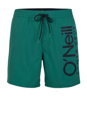zwemshort Cali met logo groen
