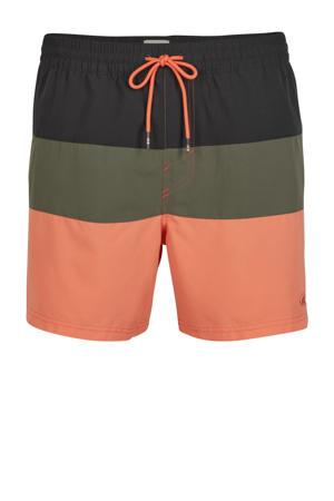 zwemshort Frame zwart/groen/oranje