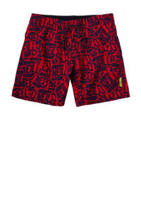 O'Neill Blue zwemshort met all over print rood/donkerblauw, Rood/donkerblauw