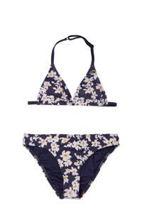 O'Neill Blue gebloemde triangel bikini Venice Beach donkerblauw/wit, Donkerblauw/wit